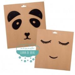 Sticker para pared infantil - Panda y Pestañas