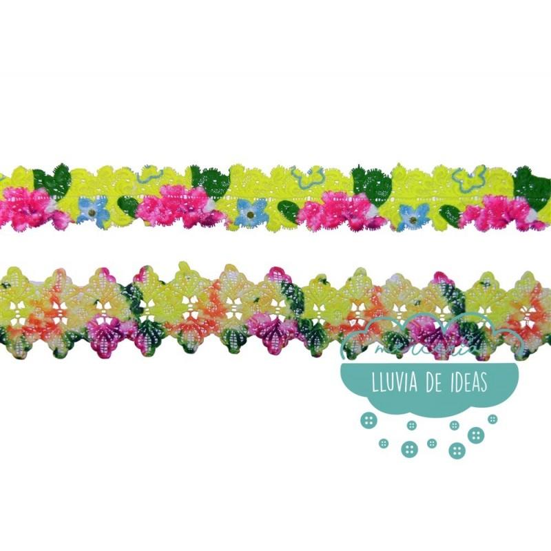 Galón de guipur multicolor - Serie Summer