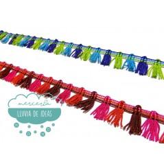 Fleco de borlas multicolor - Serie Kiara