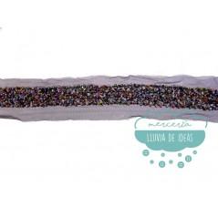 Tira de tul con piedra rocalla - Serie Cosmic