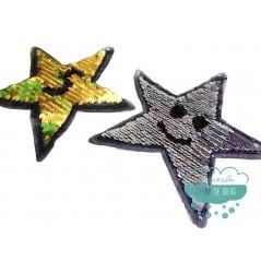 Aplicación lentejuelas reversibles - Estrellas oro y plata