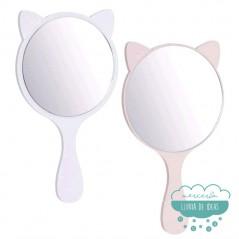 Espejo de mano - Orejas de gato - Únicamente disponible en color beige arrosado