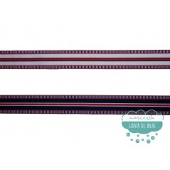 Cinta grosgrain estampada - Serie Marine 25 mm.