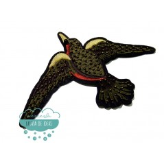 Parche bordado termoadhesivo - Pájaro con rocalla