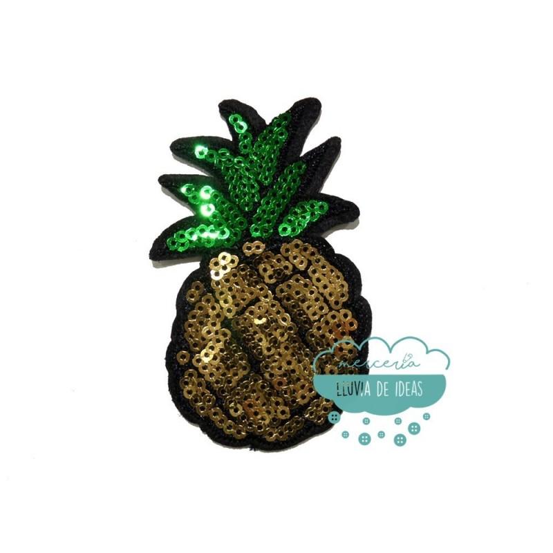 Parche termoadhesivo con lentejuelas - Piña