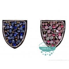 Aplicación decorativa con piedras tipo bolsillo - Serie Paula