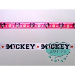 Cinta de raso o satén estampado - Colección Mickey & Minnie Disney