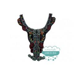 Cuello étnico bordado con abalorios y piedras - Serie Perú