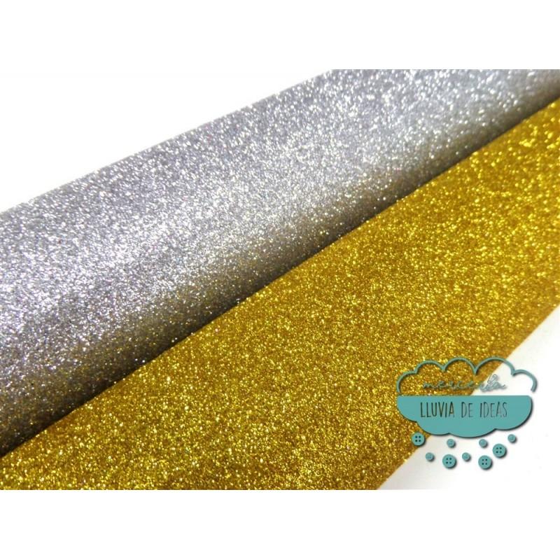 Tejido glitter (con purpurina)