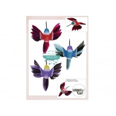 Aplique colibrí multicolor