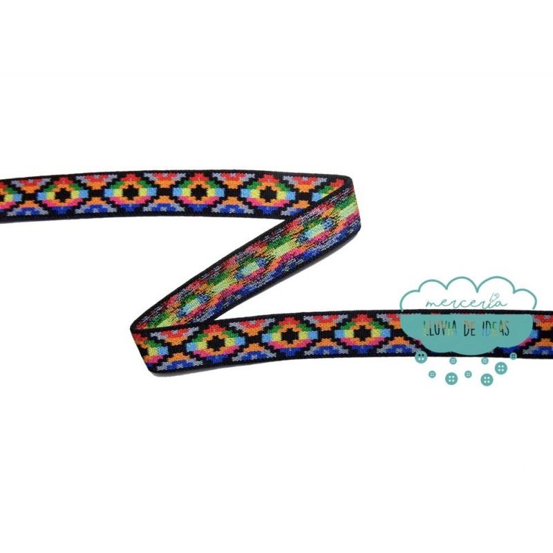 Goma elástica estampada étnica 25 mm. multicolor - Prym