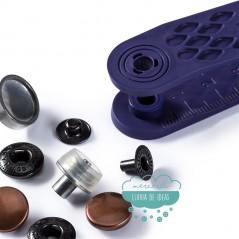 Botones de presión o snaps 'Anorak' 12 mm. cobre viejo - Prym