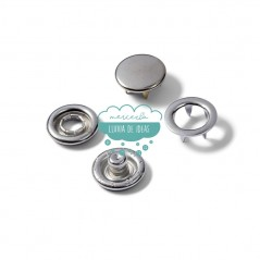 Botones de presión o snaps 'Jersey' 10 mm. plata - Prym