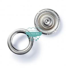 Botones de presión o snaps en anillo 'Jersey' 10 mm. plata - Prym