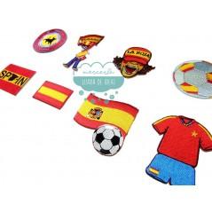Parches bordados termoadhesivos - Selección española de fútbol