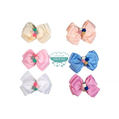 Pinza lazo - Serie Candy colores pastel