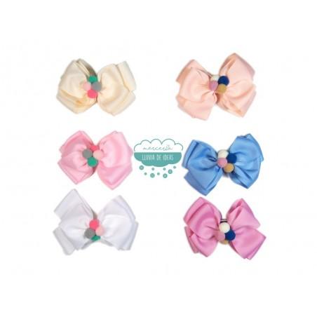 Lazo con goma - Serie Candy colores pastel