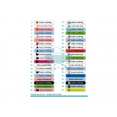 Etiquetas termoadhesivas de colores en tela o vinilo para ropa
