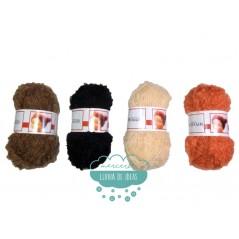 Cabello rizado para muñecas - Mohair Boucle