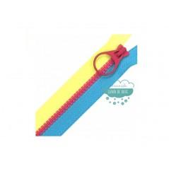 Cremallera inyectada cerrada doble cursor 55 cm. - YKK Fantasía tricolor