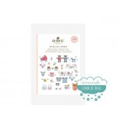 "Mini libro punto de cruz ""Bebé"" - DMC"