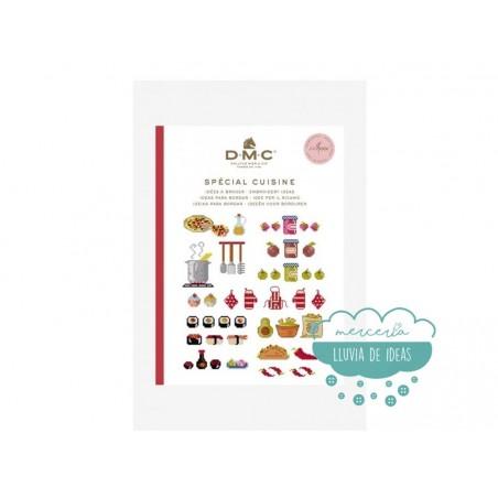 """Mini libro punto de cruz """"Cocina"""" - DMC"""