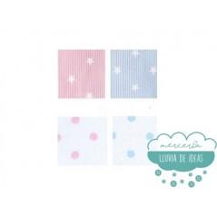 Cinta termoadhesiva marcadora de ropa - Serie Estrellas y Lunares