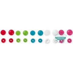 Botones de presión o snaps forma de flor - Prym