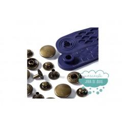 Botones de presión o snaps 'Anorak' 15 mm. oro viejo - Prym