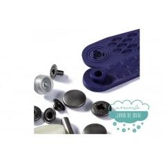 Botones de presión o snaps 'Anorak' 15 mm. plata oscuro - Prym