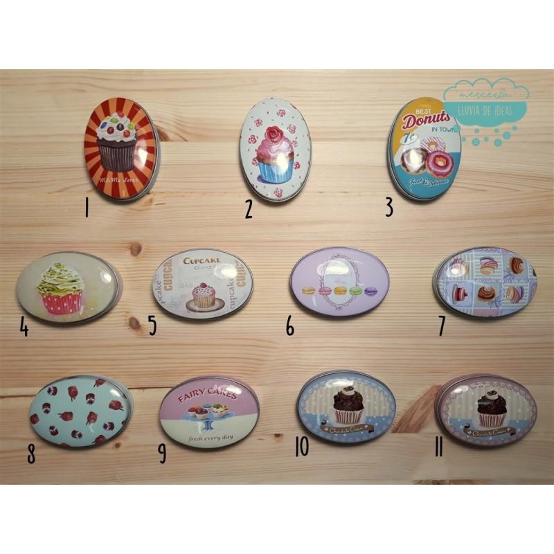 Latas estampadas - Serie Cupcakes