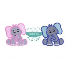 Parche bordado termoadhesivo - Elefantes