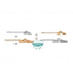 Terminal con cadena y mosquetón