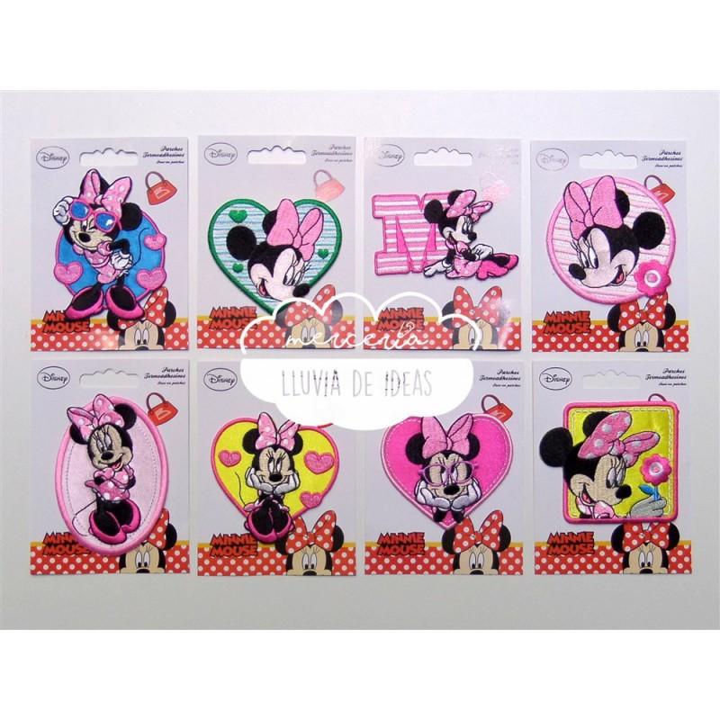 Parches bordados termoadhesivos - Colección Minnie Mouse