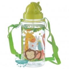 Botella infantil con correa y pajita - Zooniverse