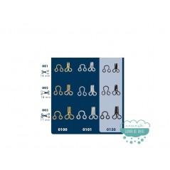 Corchetes de acero - Varias medidas (14, 16 y 17 mm.)