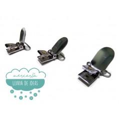 Pinzas de metal para chupeteros o tirantes 25 mm.