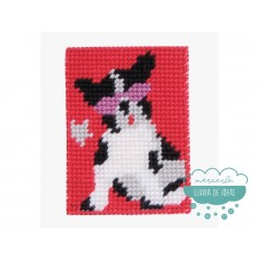 Kit cañamazo para niños - Bulldog francés