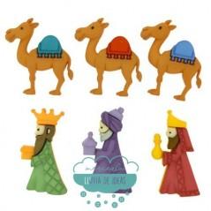 Botones decorativos de Navidad - Reyes Magos - Dress It Up
