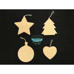Figuras de cartón con motivos de Navidad