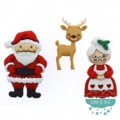 Botones decorativos de Navidad - Mr. & Mrs. Claus - Dress It Up