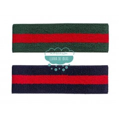 Goma elástica de rizo 45 mm. - Serie Gucci rayas