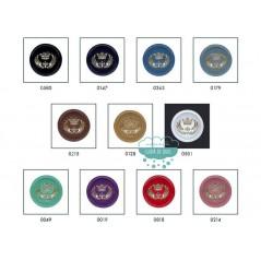 Botón efecto metalizado con escudo - Varios colores