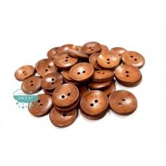 Botón de madera cóncavo - Varios tamaños