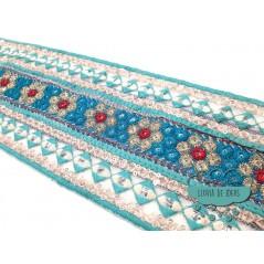 Pasamanería bordada con lentejuelas y espejos - Serie Amul