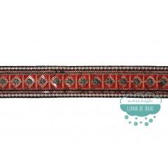 Galón bordado metalizado con lentejuelas - Serie Falak