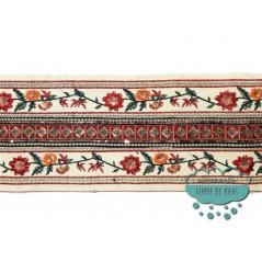 Galón bordado metalizado con lentejuelas - Serie Faruk