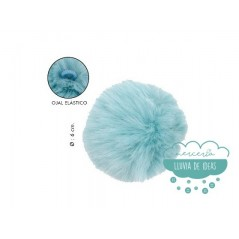 Pompones de pelo ecológico - Ø 6 cm.