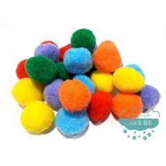 Pompones acrílicos - Colores lisos Ø 30 mm.