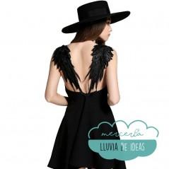 Alas de ángel bordadas - Color negro